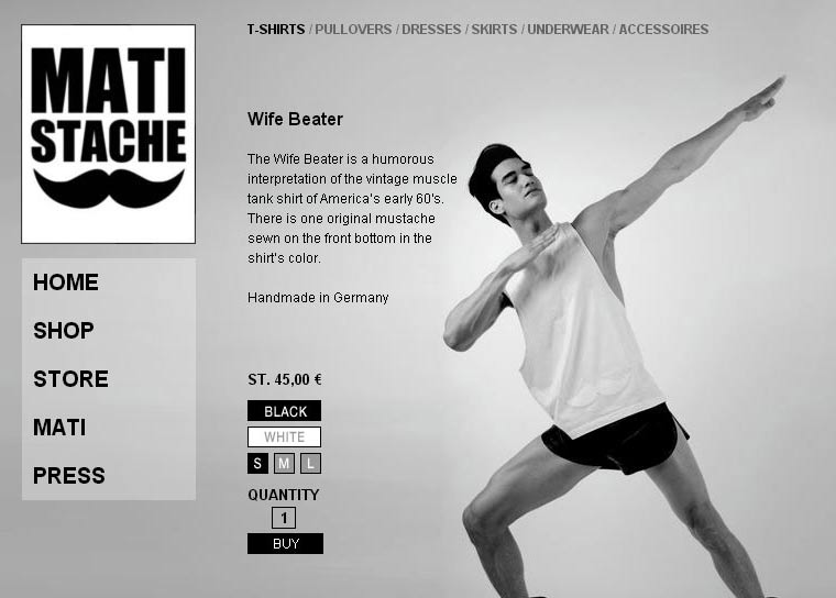 Screenshot von Matistache.com